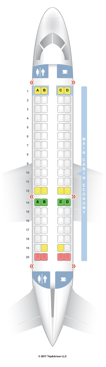 Frontier Airlines Seating Chart Emb E90