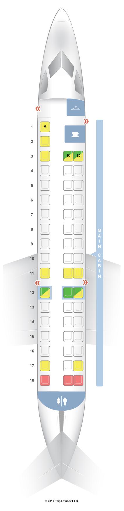 SeatGuru Seat Map American Airlines Embraer ERJ145 ER4 - Us Airways A321 Seat Map