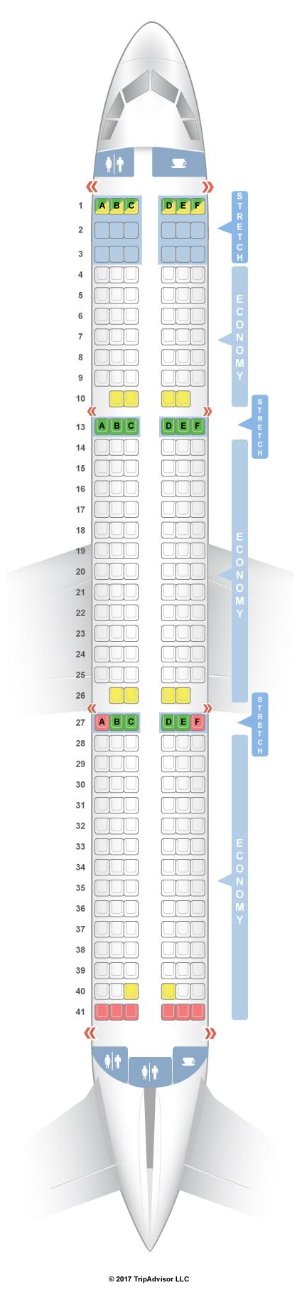 SeatGuru Seat Map Frontier Airbus A321 321 - Us Airways A321 Seat Map