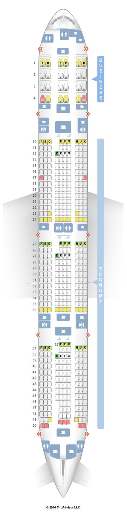 SeatGuru Seat Map Qatar Airways Boeing 777-300ER (77W) V2