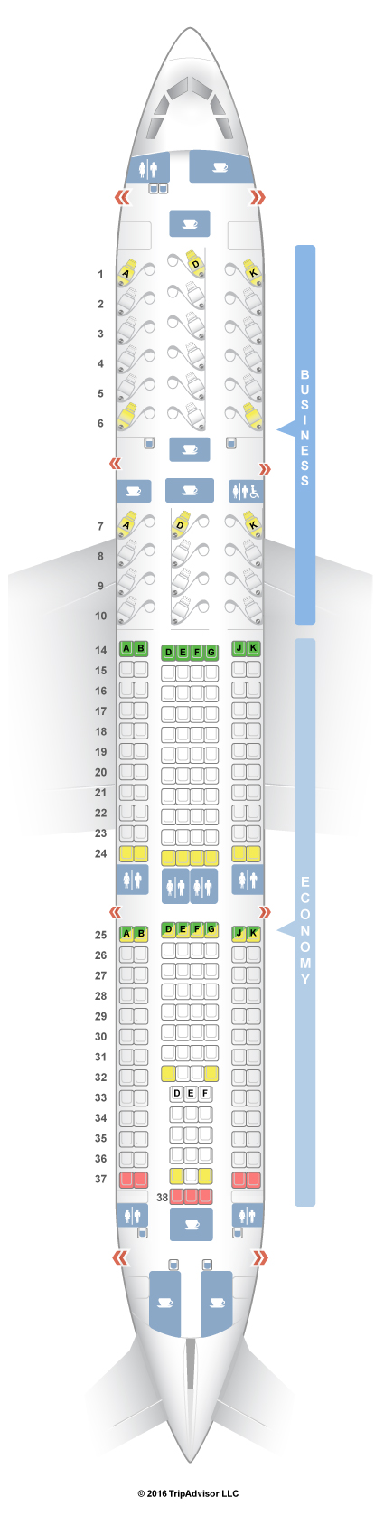 Turkish Airlines Seating Chart A330