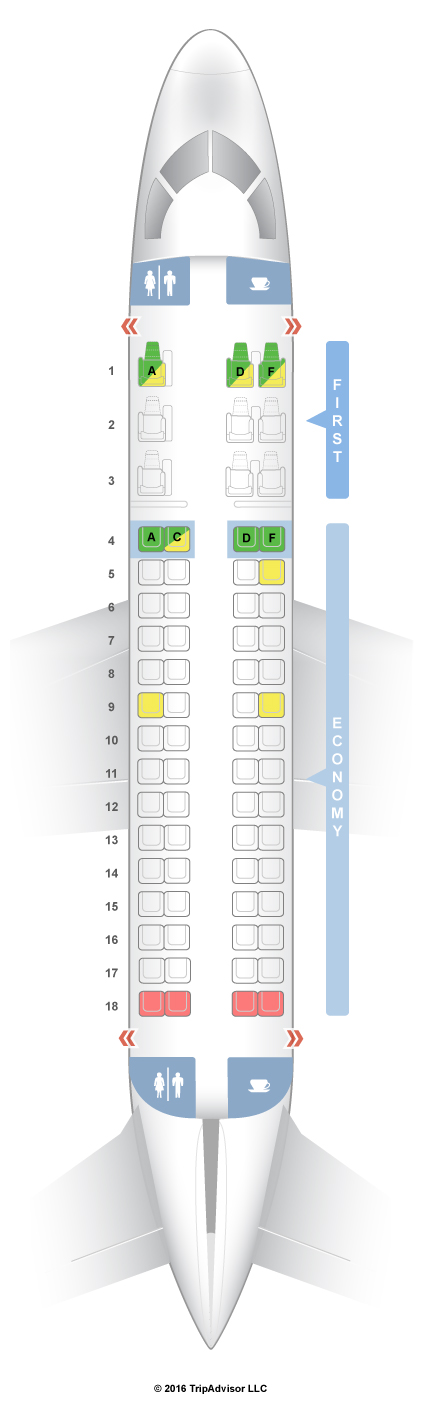 Seatguru Seat Map American Airlines Embraer Erj 170 E70