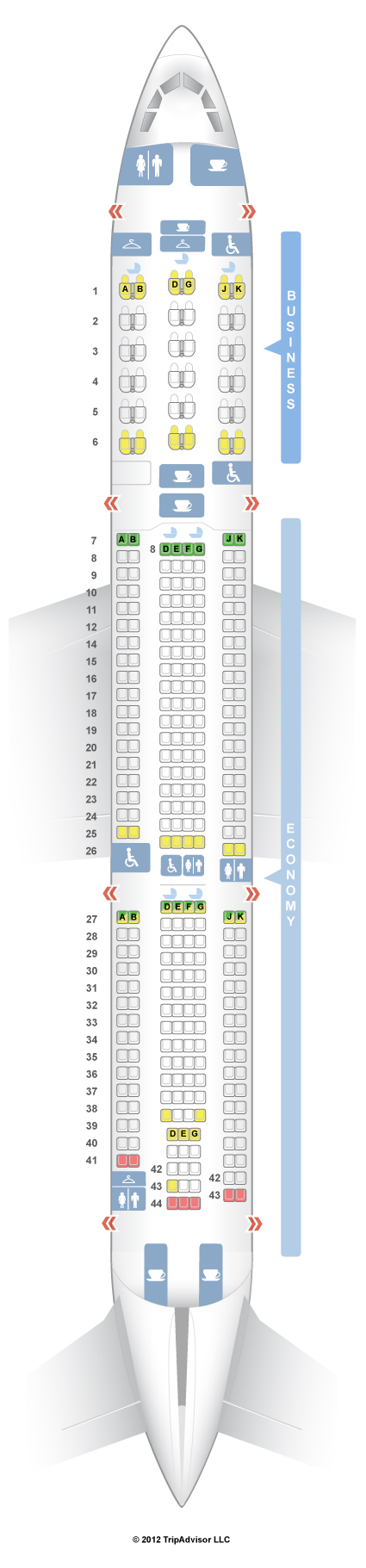 SeatGuru Seat Map China Airlines Airbus A330-300 (333) V1 - photo#40