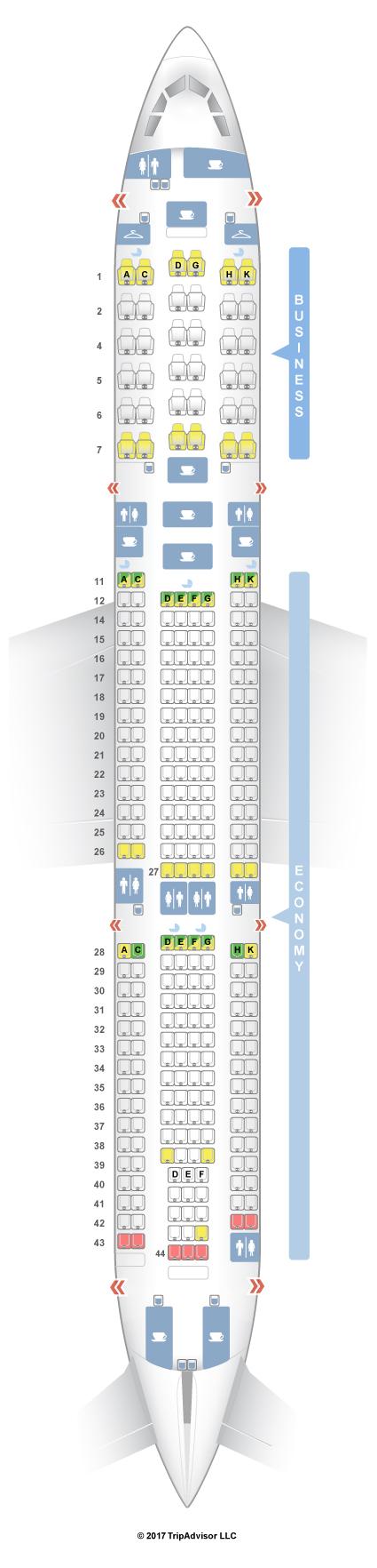 Seatguru Seat Map Malaysia Airlines Airbus A330 300 333 V2