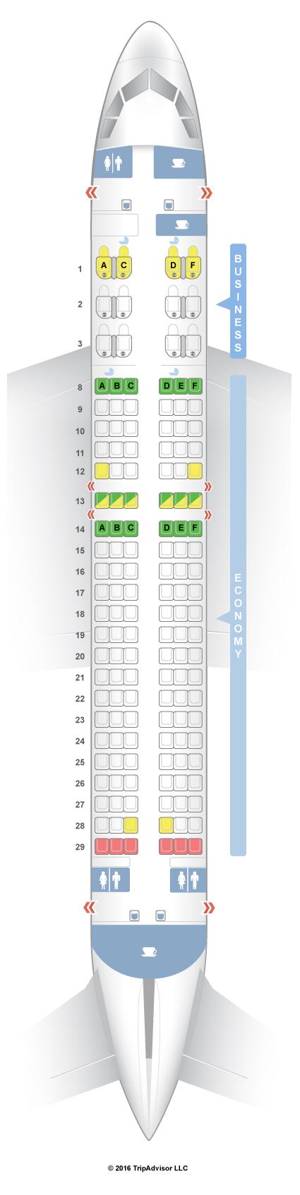 SeatGuru Seat Map Qatar Airways Airbus A320 (320) V1