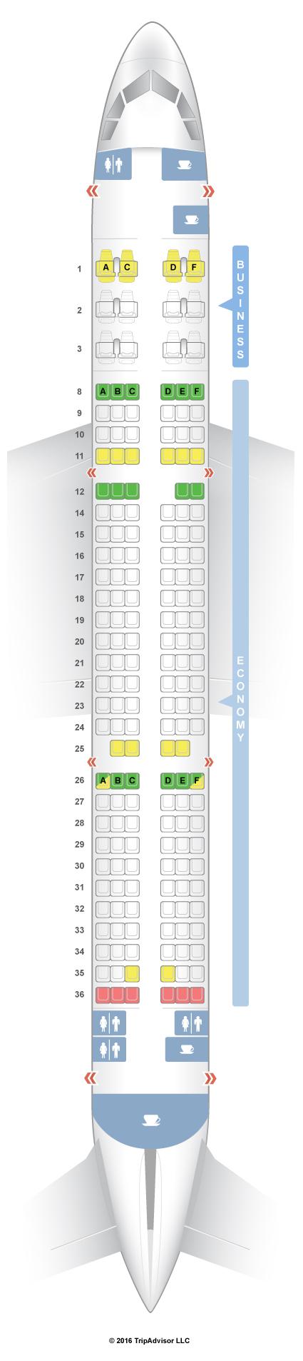 SeatGuru Seat Map Qatar Airways Airbus A321 (321) V1