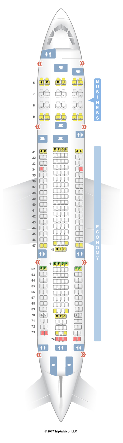 Seatguru seat map china eastern airbus a330 200 332 - China eastern airlines vietnam office ...