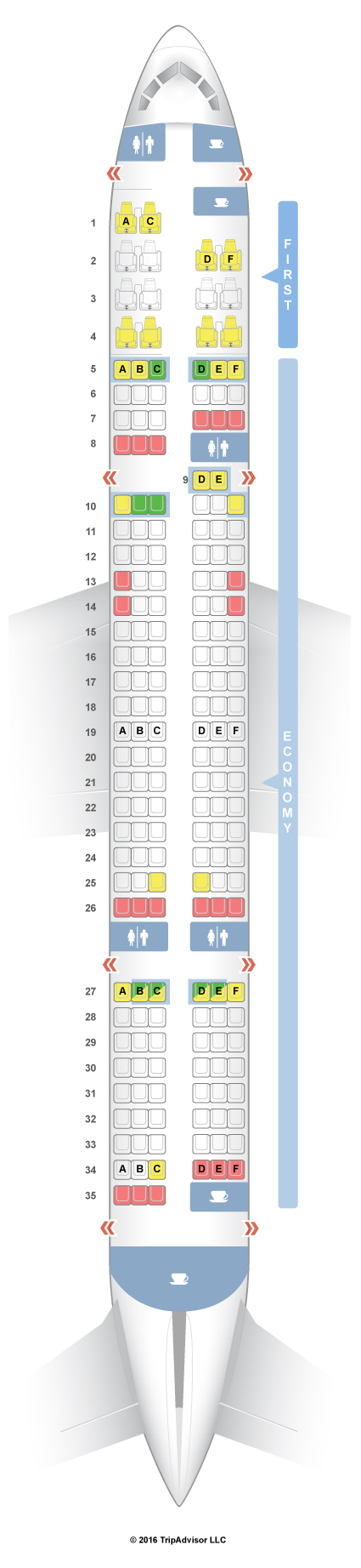 Seatguru Seat Map American Airlines Boeing 757 200 752 V3