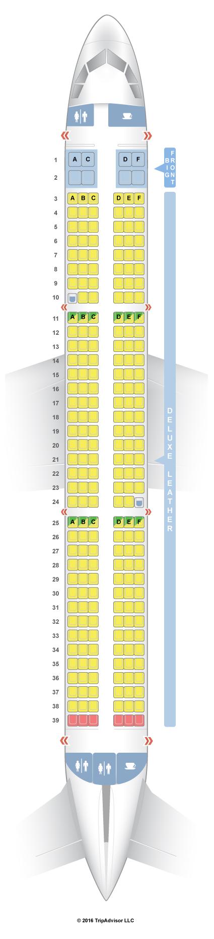 SeatGuru Seat Map Spirit Airbus A321 (321) V2