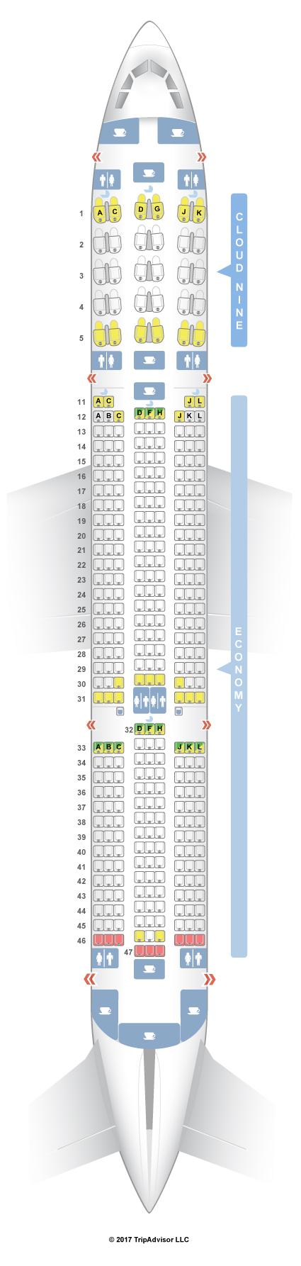 Seatguru Seat Map Ethiopian Airlines Airbus A350 900 350