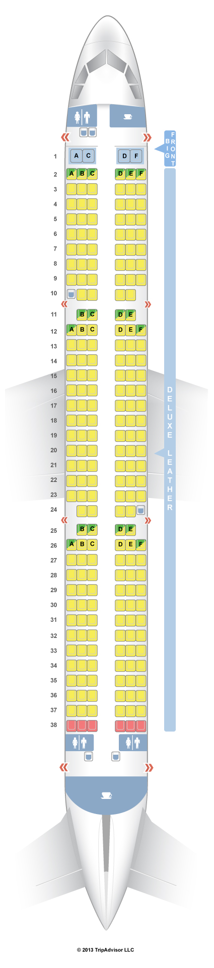 Seatguru Seat Map Spirit Airbus A321 321 V1