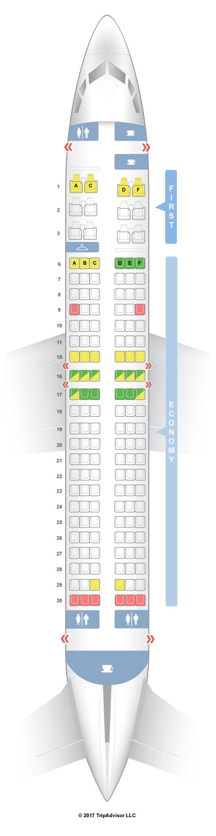 Seatguru Seat Map Alaska Airlines Boeing 737 400 734
