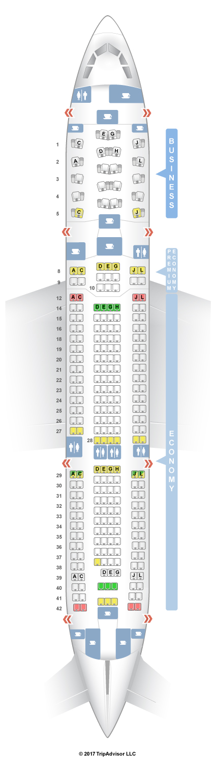 Seatguru Seat Map Alitalia Airbus A330 200 332 Three Class