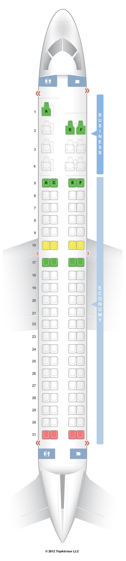 Seatguru Seat Map Copa Airlines Embraer E