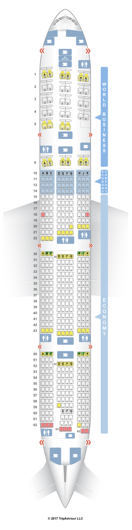 Seatguru Seat Map Klm Boeing 777 300er 77w