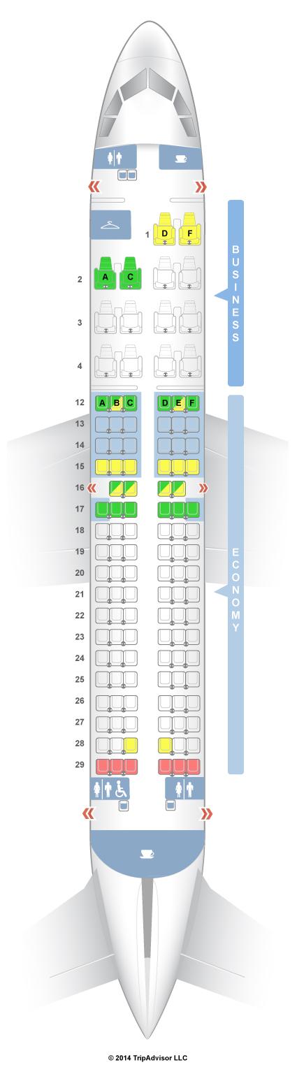 Seatguru seat map air canada airbus a319 319