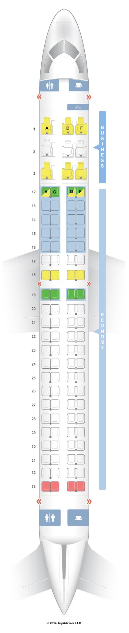 SeatGuru Seat Map Air Canada Embraer E 190