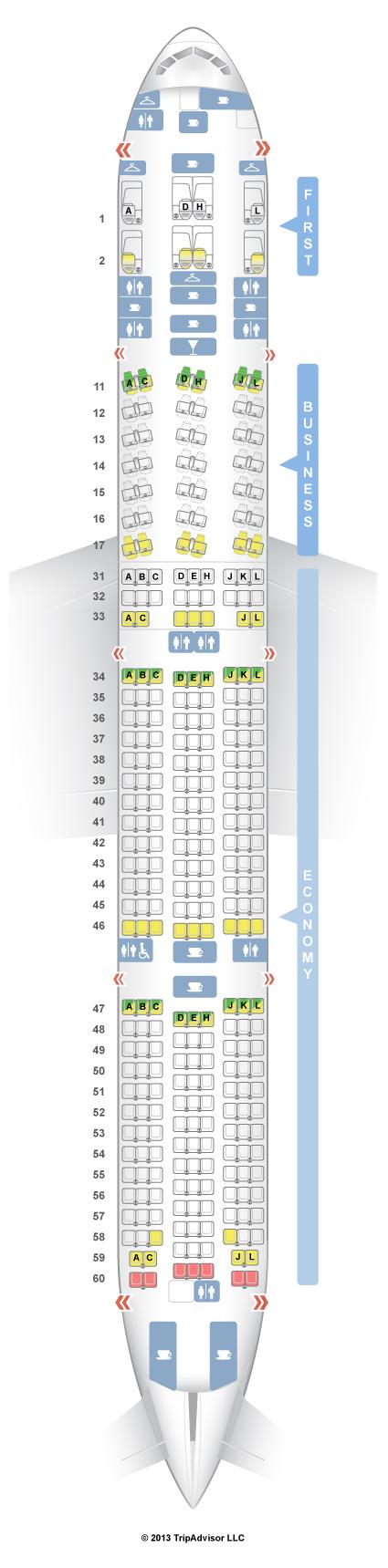 SeatGuru Seat Map Air China Boeing 777-300ER (77W) - photo#35