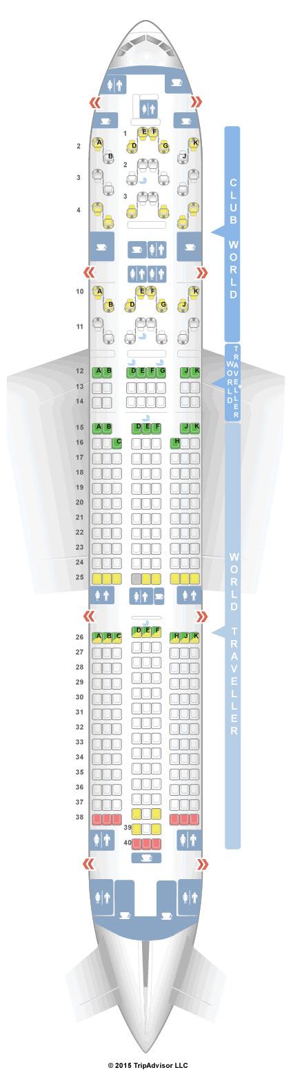 777 Boeing Seating Chart British Airways Www