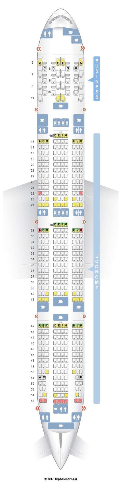 SeatGuru Seat Map Etihad Boeing 777-300ER (77W) Two Class V1 - photo#30