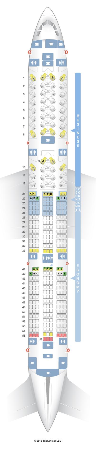 seatguru seat map finnair airbus a350 900 v1 350
