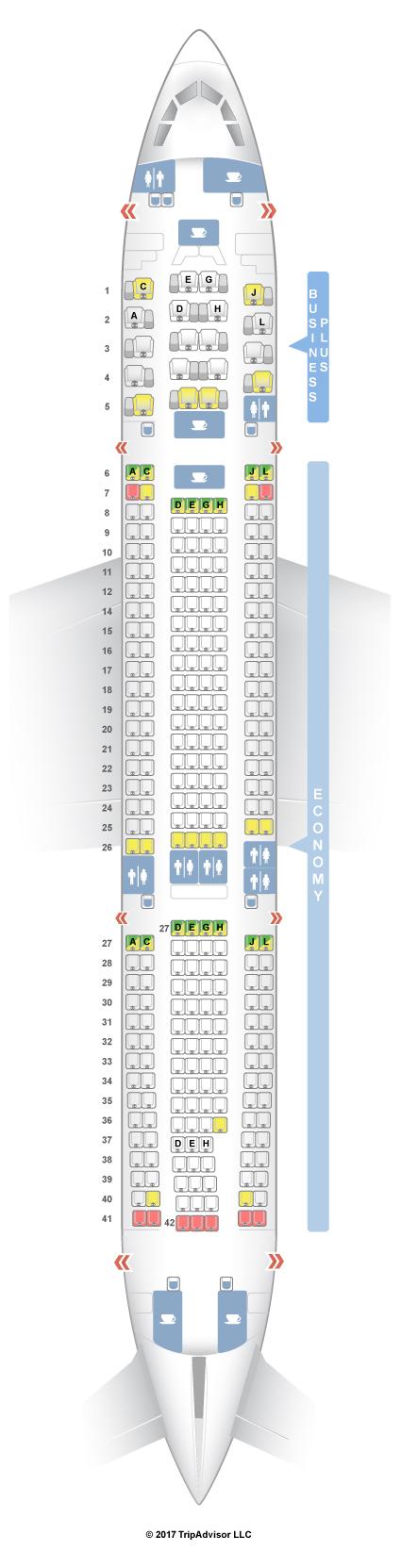 seatguru seat map iberia airbus a330 200 332