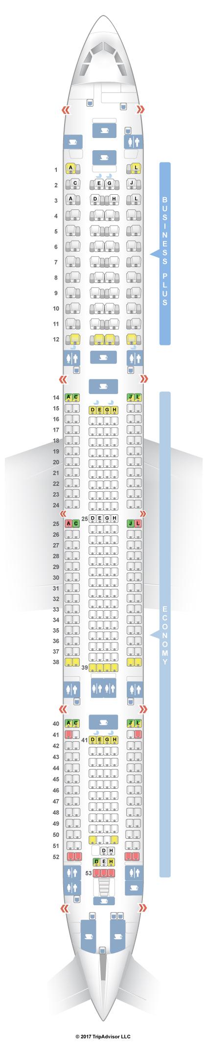 seatguru seat map iberia airbus a340 600 346 v1