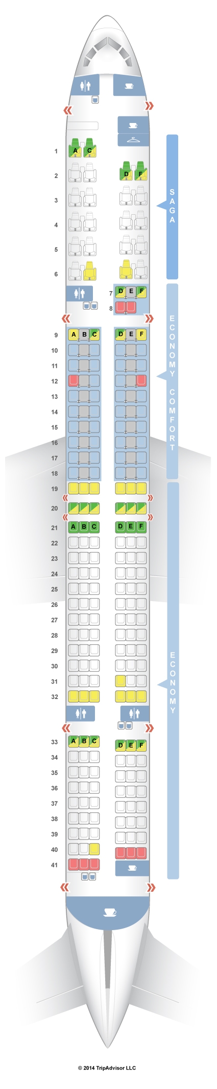 Seatguru Seat Map Icelandair Boeing 757 300 753