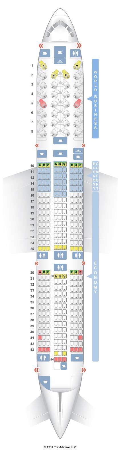 Seatguru Seat Map Klm Boeing 787 9 789