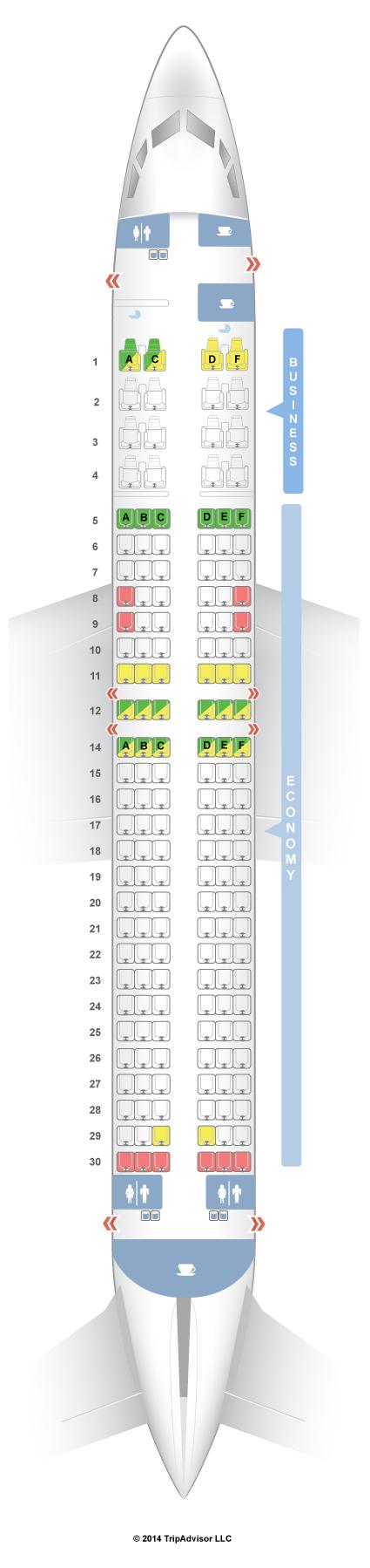 Seatguru Seat Map Malaysia Airlines Boeing 737 800 738 V1