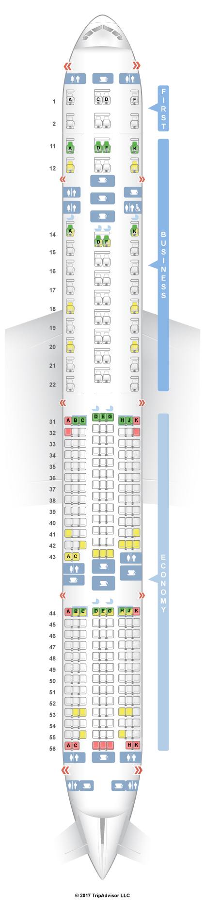 American Airlines Boeing 777 300 Seat Map - Best Seat 2018 on