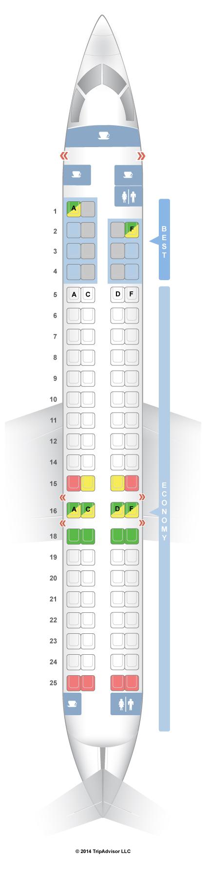 SeatGuru Seat Map Germanwings Bombardier CRJ-900