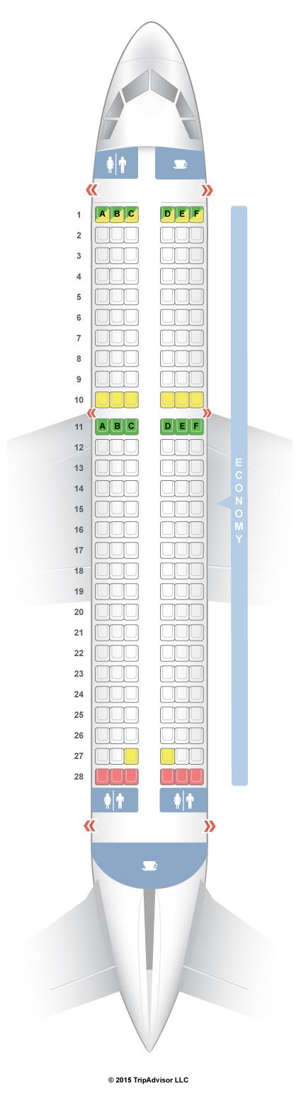 SeatGuru Seat Map Air India Airbus A320 (320) V1