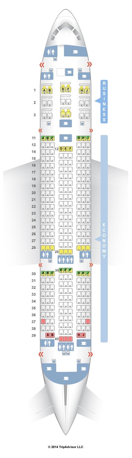 SeatGuru Seat Map Air India Boeing 787-8 (788)