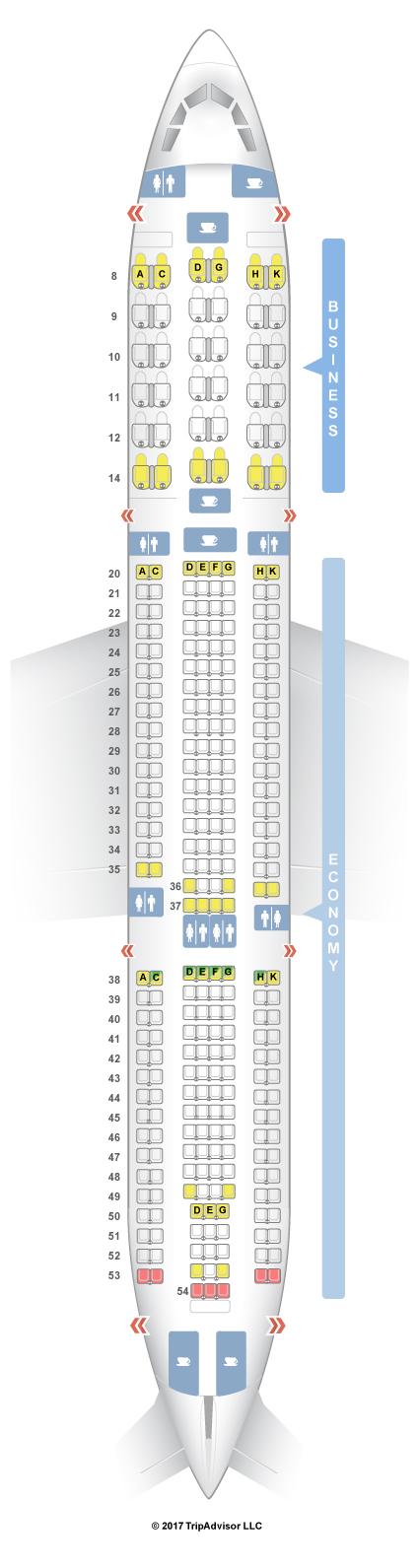 Seatguru Seat Map Egyptair Airbus A330 300 333