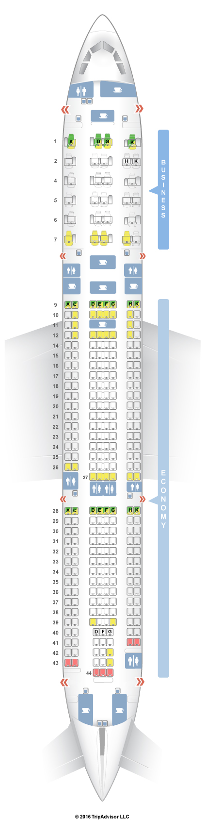 SeatGuru Seat Map Malaysia Airlines Airbus A330-300 (333) V1