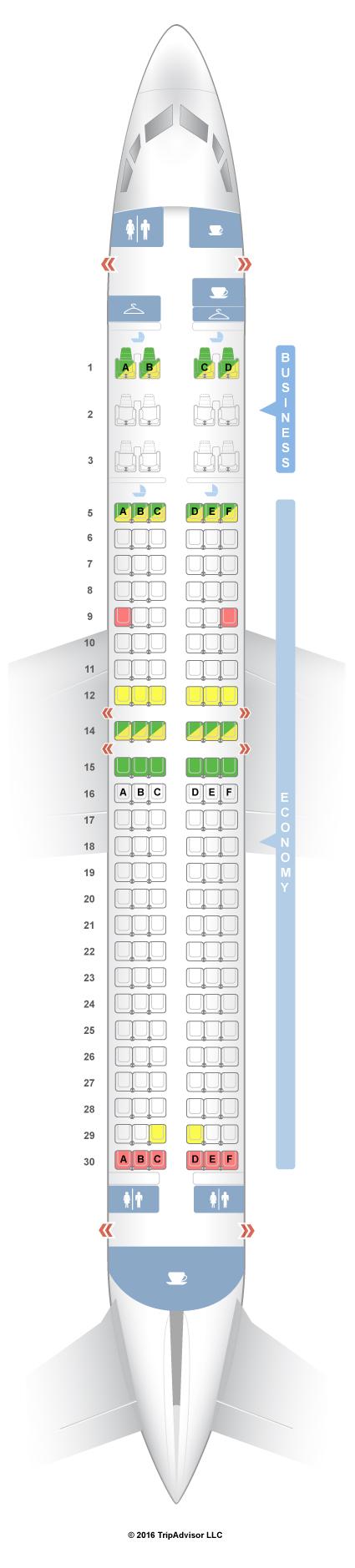 SeatGuru Seat Map Silkair Boeing 737-800 (738)