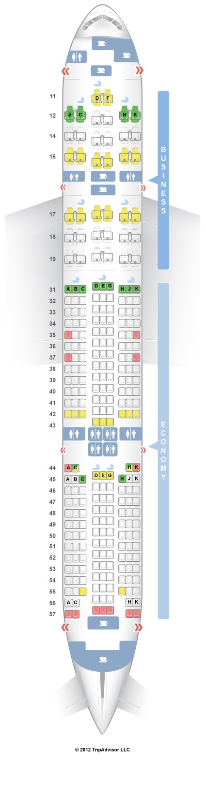 SeatGuru Seat Map Singapore Airlines Boeing 777-200ER (772) V2