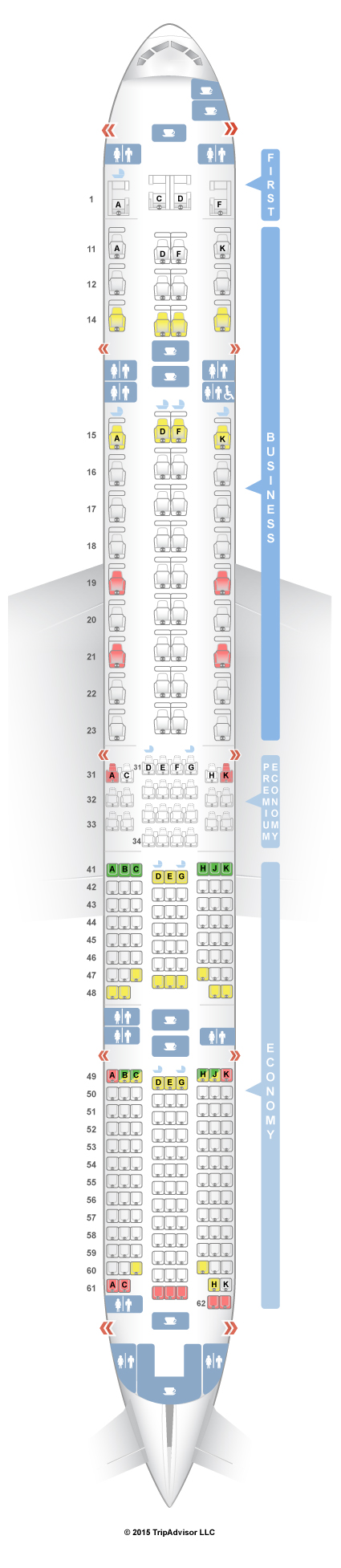 SeatGuru Seat Map Singapore Airlines Boeing 777-300ER (77W) Four Class