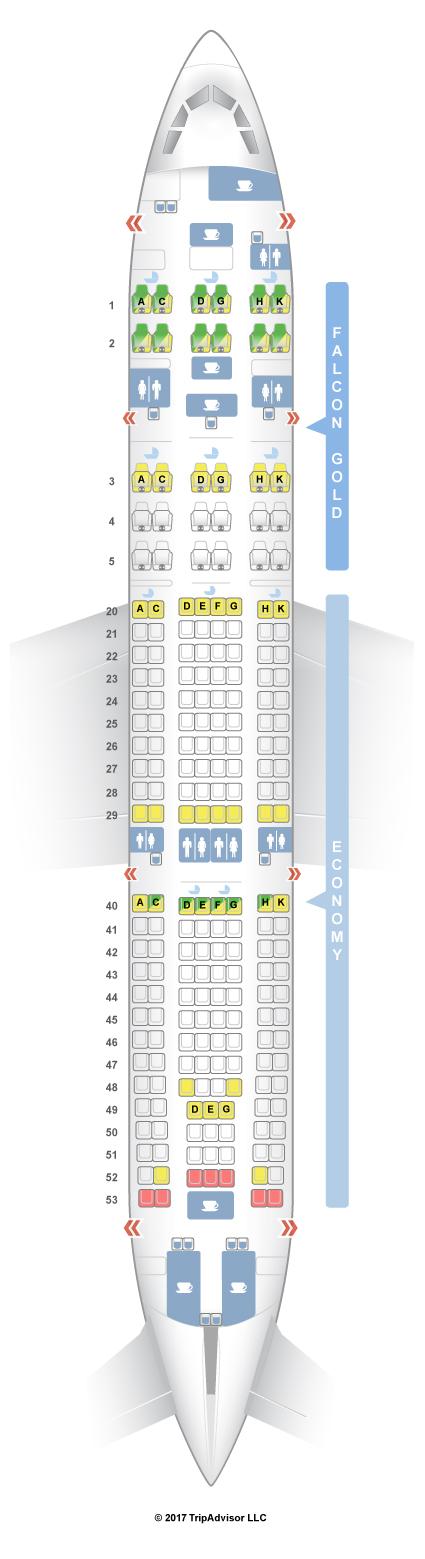 Seatguru Seat Map Gulf Air Airbus A330 200 332 V1