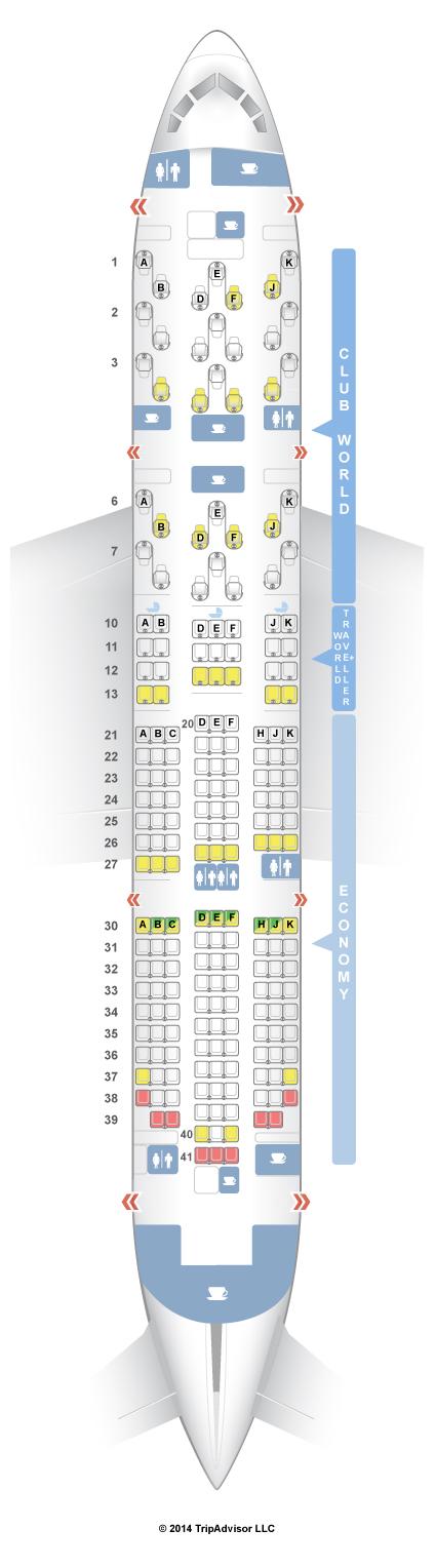 Seatguru seat map british airways boeing 787 8 788