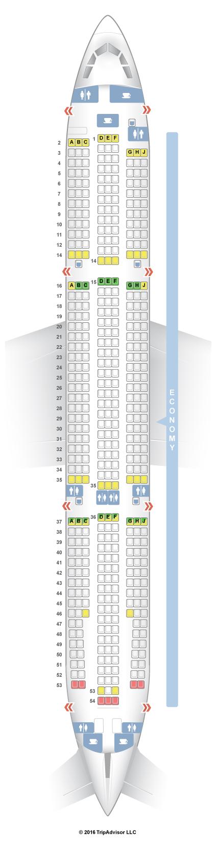 SeatGuru Seat Map CEBU Pacific Air Airbus A330 300 333