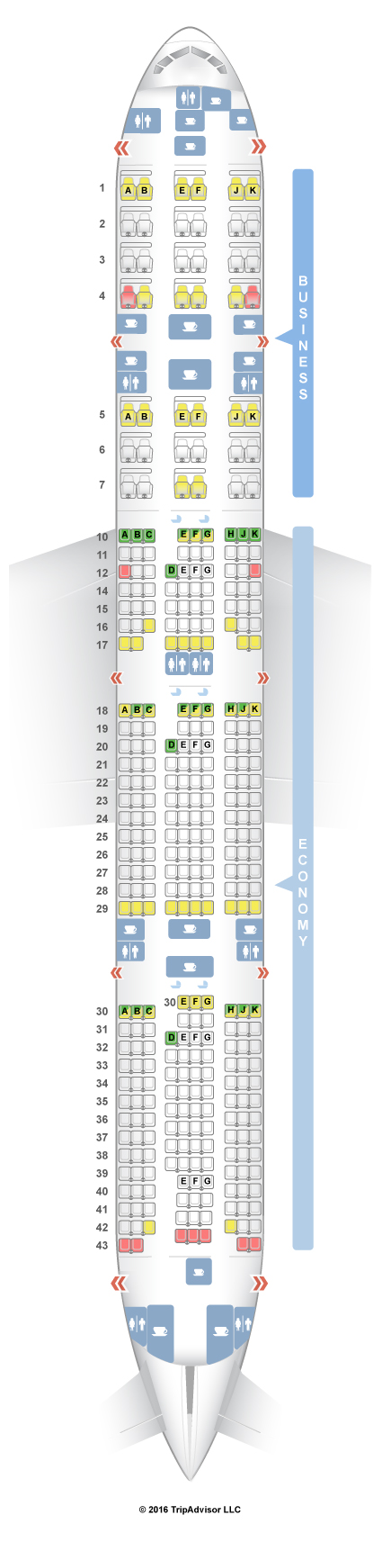 SeatGuru Seat Map Qatar Airways Boeing 777-300ER (77W) V1 - photo#46