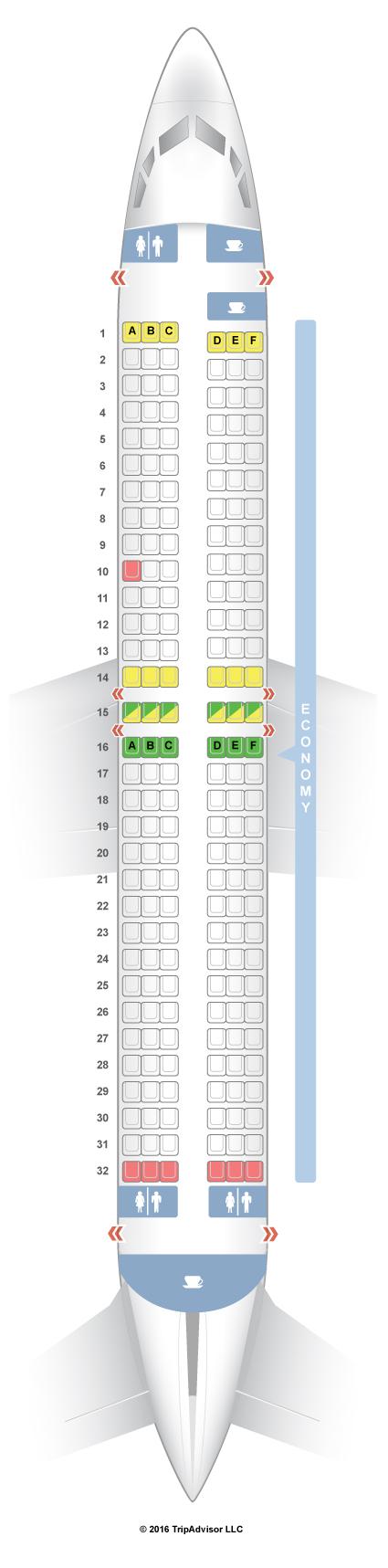 SeatGuru Seat Map Air India Express Boeing 737-800 (738)