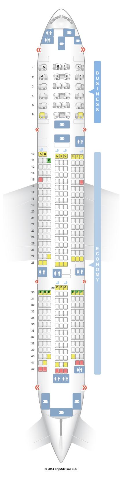 SeatGuru Seat Map Asiana Boeing 777-200ER (772) V1