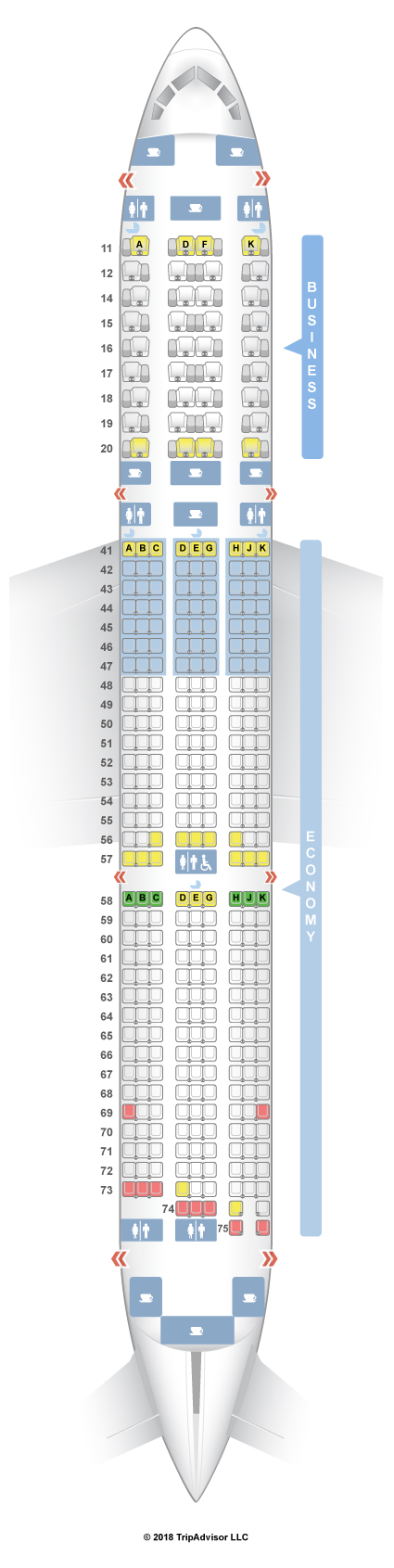 SeatGuru Seat Map Singapore Airlines Boeing 787-10 (78J)