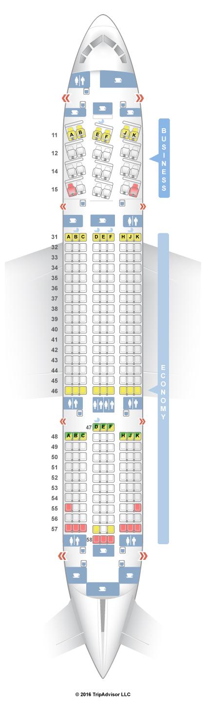 SeatGuru Seat Map THAI Boeing 787-8 (788)