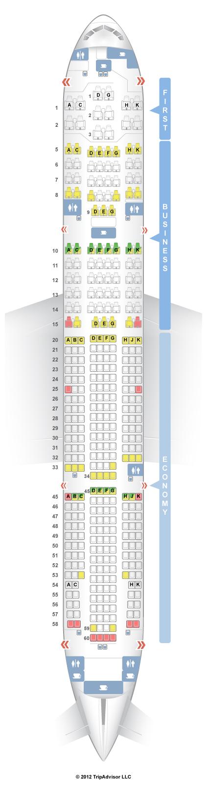 SeatGuru Seat Map Japan Airlines Boeing 777-200 (772)