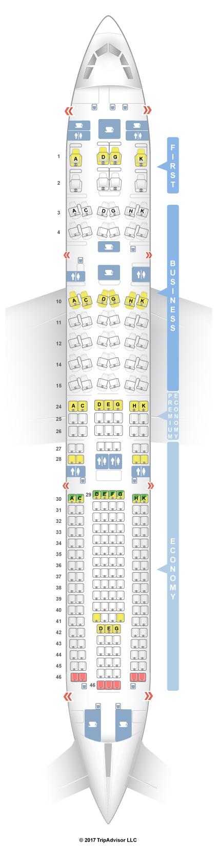 Seatguru Seat Map Lufthansa Airbus A330 300 333 V2