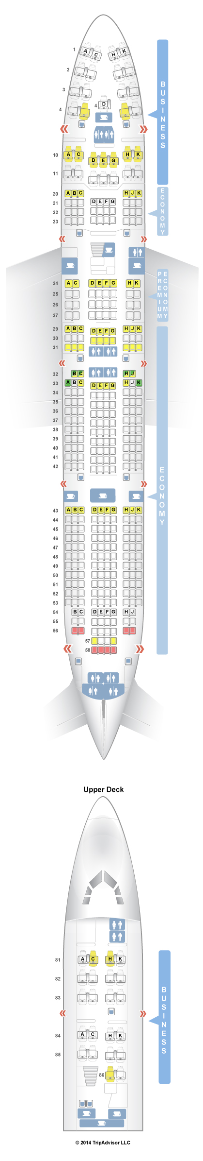 Boeing Seat Map on